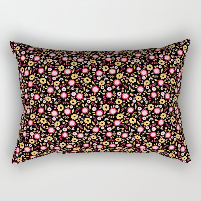 Vintage Autumn - flower pattern Rectangular Pillow