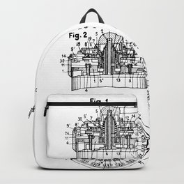 Curta Mechanical Calculator Patent Drawing Backpack