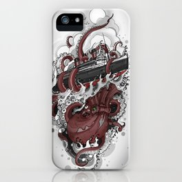 Octopus vs. Queen Mary iPhone Case