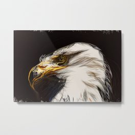 Adler Head Metal Print