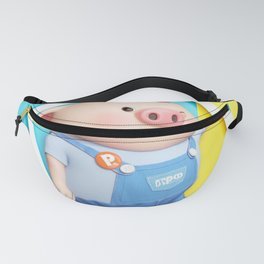 Cute Pink Piggy Faces Pig Pattern Fanny Pack