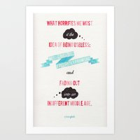 sylvia plath Art Prints featuring plath by Emily P