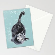 russian blue cat Stationery Cards