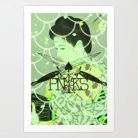 Gion Dreams-Citrus Art Print