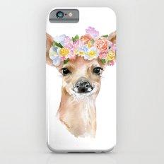 Deer Fawn Floral Watercolor Slim Case iPhone 6