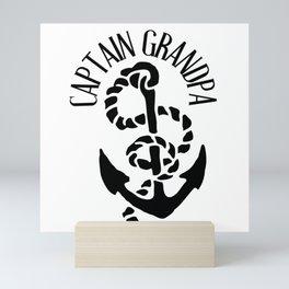 Captain Grandpa Mini Art Print