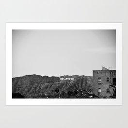 Hollywood Sign Los Angeles Califonia Art Print