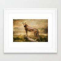 cheetah Framed Art Prints featuring Cheetah by tarrby/Brian Tarr