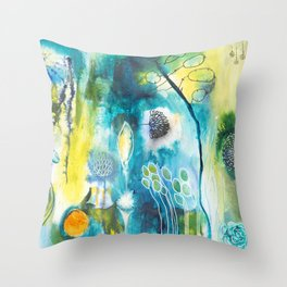Cracks I - Where the light gets in Throw Pillow