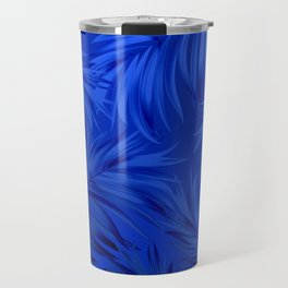 Palm Tree Fronds Brilliant Blue on Blue Hawaii Tropical Décor Travel Mug