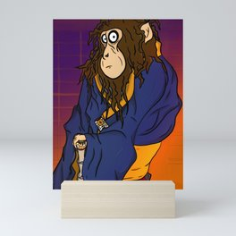 Monkey samurai Mini Art Print