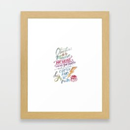 No vas y punto Framed Art Print