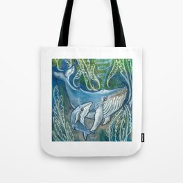 Whale Love Tote Bag