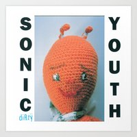 sonic youth Art Prints featuring Sonic Youth - Dirty by NICEALB