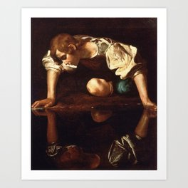 "Michelangelo Merisi da Caravaggio ""Narcissus"" Art Print"