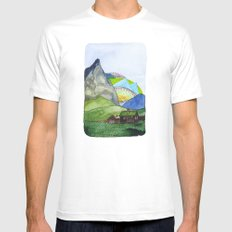 Landscapes / Nr. 6 Mens Fitted Tee White MEDIUM