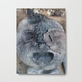 ambivalent or happy head? Metal Print