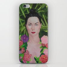 Peony portrait iPhone & iPod Skin