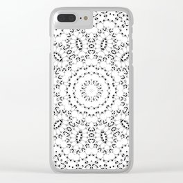 Black and white lace 2 Clear iPhone Case