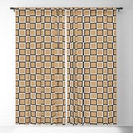 Brown geometric pattern. Squares. Tile design Blackout Curtain