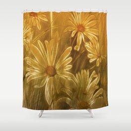 Golden daisy Shower Curtain