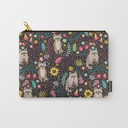 Raccoons bright pattern Carry-All Pouch