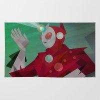 superheroes Area & Throw Rugs featuring Superheroes SF by Scott Balmer