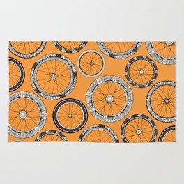 bike wheels amber Rug