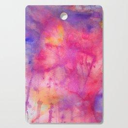 pink tie dye Cutting Board