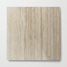 Beige Travertine Stone Texture Metal Print