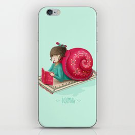Cozy snail iPhone Skin
