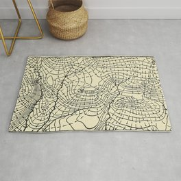 Topography Map Rug