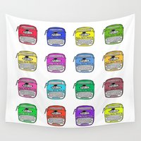 write Wall Tapestries featuring Write on by andy_panda_