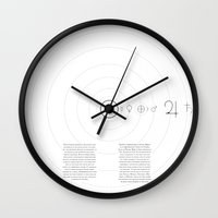alchemy Wall Clocks featuring Alchemy by Tobias Bowman