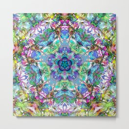 Five Points of Color Abstract Metal Print