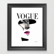 Vintage Beauty Vogue Magazine Cover. Fashion Illustration Framed Art Print