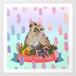 meerkat, hug **new and improved** Art Print