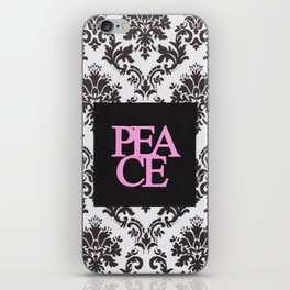 peace in black and white iPhone Skin