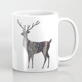 deer silhouette stag black bark with lichen Coffee Mug