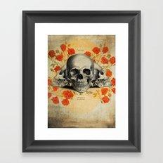 I Became Insane... Edgar Allan Poe Skull Print Framed Art Print