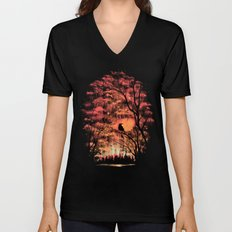 Burning In The Skies Unisex V-Neck