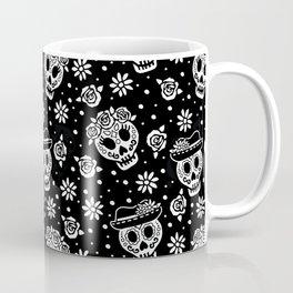 Black and White Day of the Dead Sugar Skulls Coffee Mug