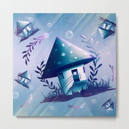 Magic Mush Room - Pattern Metal Print