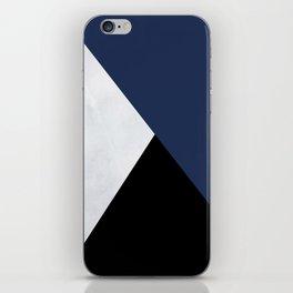 Colour Block Marble Blue iPhone Skin