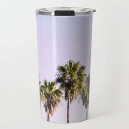 Pastel Sky Palm Trees Travel Mug