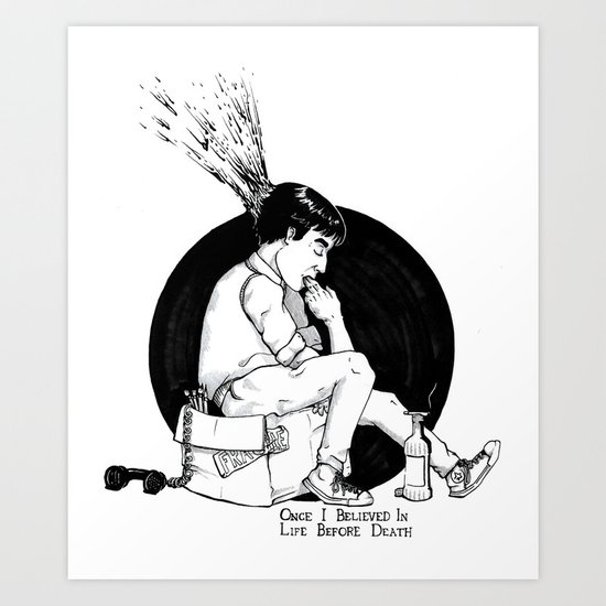 THE LIFE BEFORE DEATH Art Print