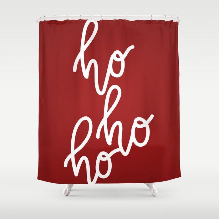 Christmas Shower Curtain.Hohoho Merry Christmas Shower Curtain By Greennatural