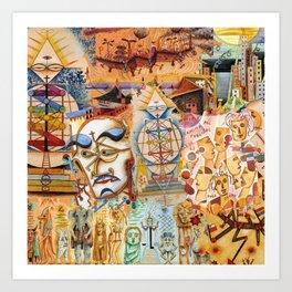 Xul Solar collage Art Print