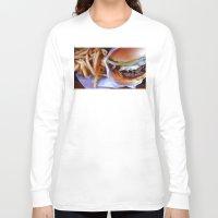 burger Long Sleeve T-shirts featuring burger by SantaCruz PhotoTours