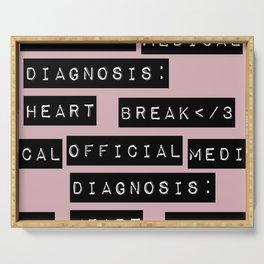 HEART</3BREAK pink Serving Tray